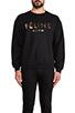 Image 1 of Brian Lichtenberg Feline Sweatshirt in Black/Gold