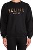 Image 4 of Brian Lichtenberg Feline Sweatshirt in Black/Gold