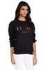 Image 2 of Brian Lichtenberg Feline Sweatshirt in Black/Gold