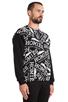 Image 2 of Brian Lichtenberg Homies Graffiti Sweatshirt in Black/White