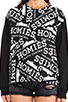 Image 4 of Brian Lichtenberg Homies Graffiti Sweatshirt in Black/White