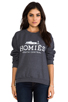 Image 1 of Brian Lichtenberg Homies Unisex Sweatshirt in Charcoal/White