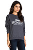 Image 2 of Brian Lichtenberg Homies Unisex Sweatshirt in Charcoal/White