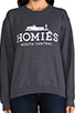Image 4 of Brian Lichtenberg Homies Unisex Sweatshirt in Charcoal/White