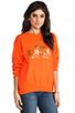 Image 2 of Brian Lichtenberg Homies Sweatshirt in Orange/Gold-Foil