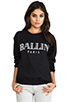 Image 1 of Brian Lichtenberg Ballin Sweatshirt in Black/White