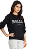 Image 2 of Brian Lichtenberg Ballin Sweatshirt in Black/White