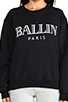 Image 4 of Brian Lichtenberg Ballin Sweatshirt in Black/White