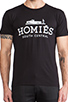 Image 4 of Brian Lichtenberg Homies Tee in Black & White