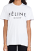 Image 4 of Brian Lichtenberg Feline Tee in White/Black