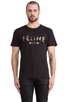 Image 1 of Brian Lichtenberg Feline Tee in Black/Gold