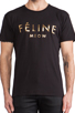 Image 4 of Brian Lichtenberg Feline Tee in Black/Gold