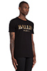 Image 2 of Brian Lichtenberg Ballin Tee in Black & Gold Foil