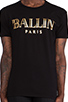 Image 4 of Brian Lichtenberg Ballin Tee in Black & Gold Foil