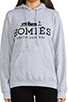 Image 4 of Brian Lichtenberg Homies Hoodie in Grey/Black