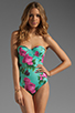 Image 1 of BEACH RIOT The Cold Hearted One Piece in Blue Floral