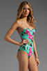 Image 2 of BEACH RIOT The Cold Hearted One Piece in Blue Floral
