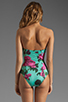 Image 3 of BEACH RIOT The Cold Hearted One Piece in Blue Floral