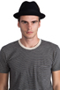 Image 2 of Brixton Gain Black Felt Hat