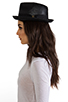 Image 2 of Brixton Castor Fedora in Black Straw