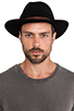 Image 2 of Brixton Messer Fedora in Black