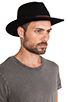 Image 3 of Brixton Messer Fedora in Black