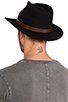 Image 4 of Brixton Messer Fedora in Black