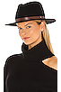 Image 1 of Brixton Messer Fedora in Black