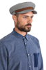 Image 3 of Brixton Fiddler Cap in Navy & White