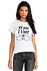 Image 1 of B-side by Wale Can I Live Tee in White/Black
