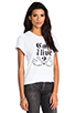 Image 2 of B-side by Wale Can I Live Tee in White/Black
