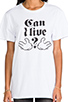 Image 4 of B-side by Wale Can I Live Tee in White/Black