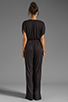 Image 4 of By Malene Birger Viscose Jersey Tytan Jumpsuit in Black