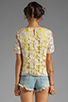 Image 2 of By Malene Birger Modish Life Voleria Top in Neon Yellow with Cream Lace