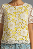 Image 3 of By Malene Birger Modish Life Voleria Top in Neon Yellow with Cream Lace