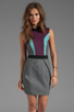 Image 1 of camilla and marc Statesroom Dress in Grey Marle/Maroon/Duck Egg