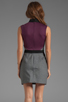 Image 4 of camilla and marc Statesroom Dress in Grey Marle/Maroon/Duck Egg