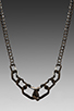 Image 2 of Cast of Vices Thick Chain Necklace in Black