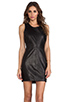 Image 1 of Capulet Leather Tank Dress in Black