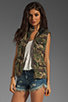 Image 1 of Capulet Quilted Vest in Camouflage