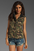 Image 2 of Capulet Quilted Vest in Camouflage