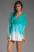 Image 1 of Catherine Malandrino Kaftan Blouse in Appletini Dip Dye
