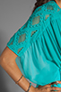 Image 6 of Catherine Malandrino Kaftan Blouse in Appletini Dip Dye