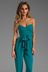 Image 1 of Catherine Malandrino Strapless Bustier Jumpsuit in Belize