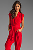 Image 1 of Catherine Malandrino Favorites Cap Sleeve Jumper in Scarlet