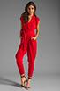 Image 2 of Catherine Malandrino Favorites Cap Sleeve Jumper in Scarlet