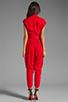 Image 4 of Catherine Malandrino Favorites Cap Sleeve Jumper in Scarlet