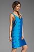 Image 3 of C&C California Bemberg Placement Tie Dye Stripe Layered Tank Dress in Mirage
