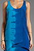 Image 5 of C&C California Bemberg Placement Tie Dye Stripe Layered Tank Dress in Mirage