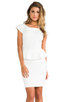 Image 1 of Central Park West Newport Peplum Short Sleeve Dress in Ivory